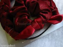Mothercare burgundy red velour headband & scrunchie hair set Wedding bridesmaid